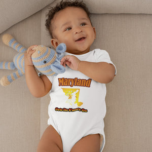 Maryland Gets Its S'more On! Novelty Infant One-Piece Baby Bodysuit - CampWildRide.com