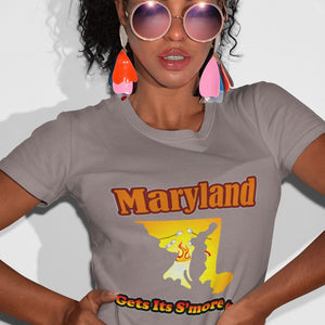 Maryland Gets Its S'more On! Novelty Short Sleeve T-Shirt