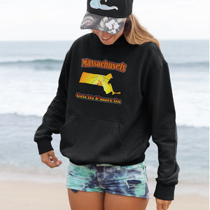 Massachusetts Gets Its S'more On! Novelty Hoodies (No-Zip/Pullover) - CampWildRide.com