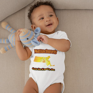 Massachusetts Gets Its S'more On! Novelty Infant One-Piece Baby Bodysuit - CampWildRide.com