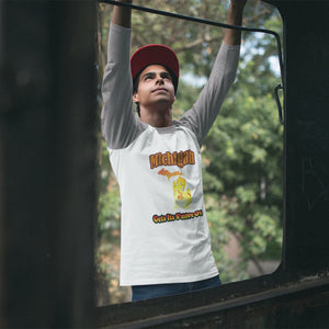 Michigan Gets Its S'more On! Novelty Baseball Tee (3/4 sleeves) - CampWildRide.com