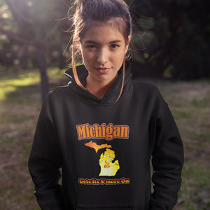 Michigan Gets Its S'more On! Novelty Hoodies (No-Zip/Pullover) - CampWildRide.com