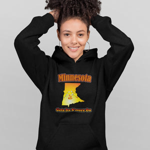 Minnesota Gets Its S'more On! Novelty Hoodies (No-Zip/Pullover) - CampWildRide.com