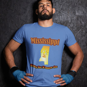 Mississippi Gets Its S'more On! Novelty Short Sleeve T-Shirt - CampWildRide.com