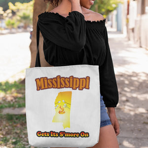Mississippi Gets Its S'more On! Novelty Funny Tote Bag Reusable - CampWildRide.com