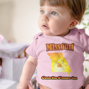 Missouri Gets Its S'more On! Novelty Infant One-Piece Baby Bodysuit