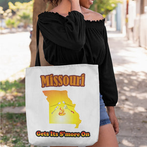 Missouri Gets Its S'more On! Novelty Funny Tote Bag Reusable