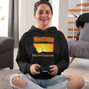 Montana Gets Its S'more On! Novelty Hoodies (No-Zip/Pullover)