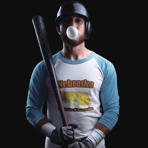 Nebraska Gets Its S'more On! Novelty Baseball Tee (3/4 sleeves)
