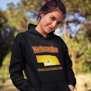 Nebraska Gets Its S'more On! Novelty Hoodies (No-Zip/Pullover) - CampWildRide.com