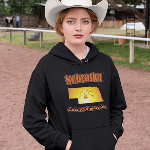 Nebraska Gets Its S'more On! Novelty Hoodies (No-Zip/Pullover)