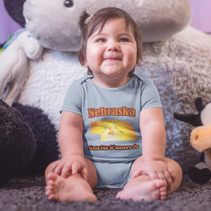 Nebraska Gets Its S'more On! Novelty Infant One-Piece Baby Bodysuit - CampWildRide.com