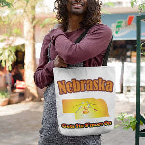 Nebraska Gets Its S'more On! Novelty Funny Tote Bag Reusable - CampWildRide.com