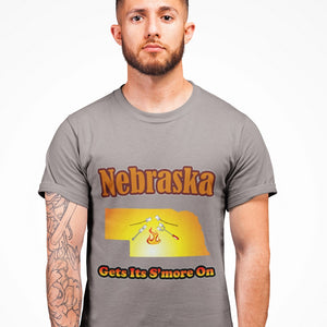 Nebraska Gets Its S'more On! Novelty Short Sleeve T-Shirt