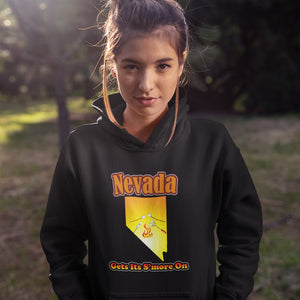 Nevada Gets Its S'more On! Novelty Hoodies (No-Zip/Pullover)