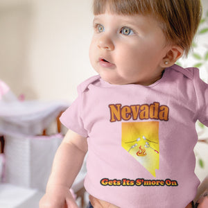 Nevada Gets Its S'more On! Novelty Infant One-Piece Baby Bodysuit - CampWildRide.com