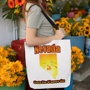 Nevada Gets Its S'more On! Novelty Funny Tote Bag Reusable