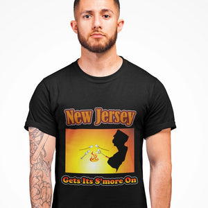 New Jersey Gets Its S'more On! Novelty Short Sleeve T-Shirt