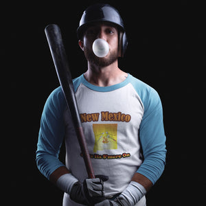 New Mexico Gets Its S'more On! Novelty Baseball Tee (3/4 sleeves) - CampWildRide.com
