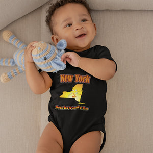 New York Gets Its S'more On! Novelty Infant One-Piece Baby Bodysuit