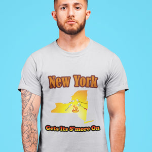 New York Gets Its S'more On! Novelty Short Sleeve T-Shirt