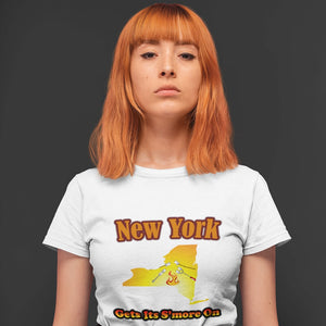 New York Gets Its S'more On! Novelty Short Sleeve T-Shirt - CampWildRide.com