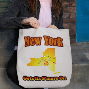 New York Gets Its S'more On! Novelty Funny Tote Bag Reusable - CampWildRide.com