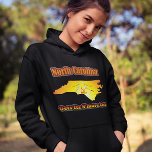 North Carolina Gets Its S'more On! Novelty Hoodies (No-Zip/Pullover)