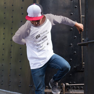 Nothing ruins your Friday more! Novelty Baseball Tee (3/4 sleeves) - CampWildRide.com