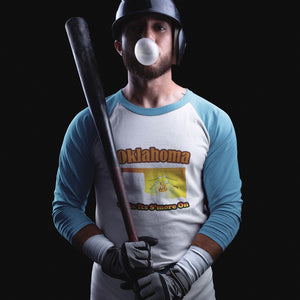 Oklahoma Gets Its S'more On! Novelty Baseball Tee (3/4 sleeves)