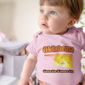 Oklahoma Gets Its S'more On! Novelty Infant One-Piece Baby Bodysuit - CampWildRide.com