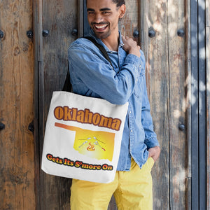 Oklahoma Gets Its S'more On! Novelty Funny Tote Bag Reusable - CampWildRide.com