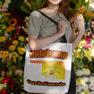 Oklahoma Gets Its S'more On! Novelty Funny Tote Bag Reusable