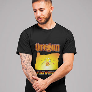 Oregon Gets Its S'more On! Novelty Short Sleeve T-Shirt - CampWildRide.com
