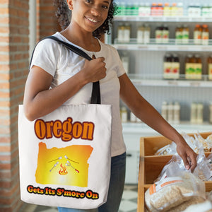 Oregon Gets Its S'more On! Novelty Funny Tote Bag Reusable - CampWildRide.com