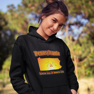 Pennsylvania Gets Its S'more On! Novelty Hoodies (No-Zip/Pullover)