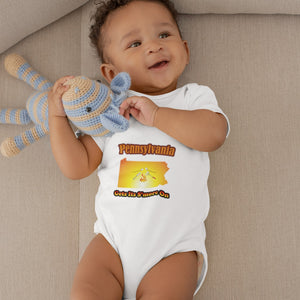 Pennsylvania Gets Its S'more On! Novelty Infant One-Piece Baby Bodysuit