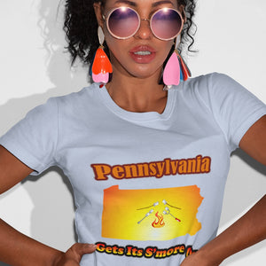 Pennsylvania Gets Its S'more On! Novelty Short Sleeve T-Shirt - CampWildRide.com
