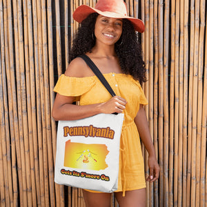 Pennsylvania Gets Its S'more On! Novelty Funny Tote Bag Reusable