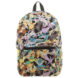 Pokémon Eevee Evolution Toss Print Sublimated Backpack