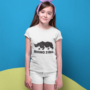 Rhino Zing Logo! Novelty Short Sleeve Youth T-Shirt - CampWildRide.com