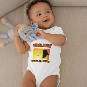 Rhode Island Gets Its S'more On! Novelty Infant One-Piece Baby Bodysuit - CampWildRide.com