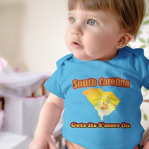 South Carolina Gets Its S'more On! Novelty Infant One-Piece Baby Bodysuit - CampWildRide.com