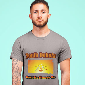 South Dakota Gets Its S'more On! Novelty Short Sleeve T-Shirt - CampWildRide.com