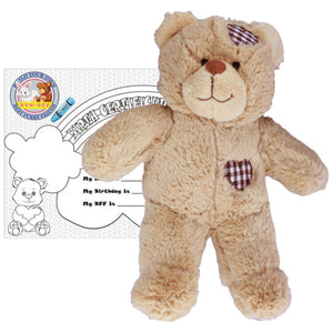 "Stuffed Animals Plush Toy - ""Brown Patches"" the Bear 8"" - CampWildRide.com"
