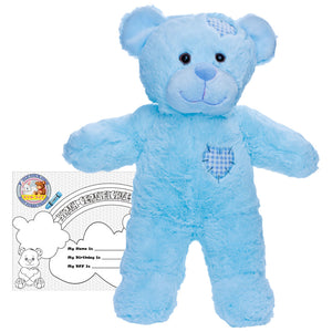 "Stuffed Animals Plush Toy - ""Baby Blue Patch"" the Bear 16"""