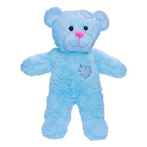 "Stuffed Animals Plush Toy - ""Baby Blue"" Patch The Bear 8"""