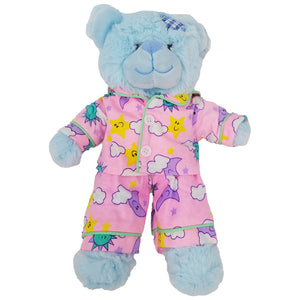 "Stuffed Animals Plush Toy - ""Baby Blue Patch"" the Bear 8"""