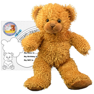 "Stuffed Animals Plush Toy - ""Caramel"" the Bear 8"" - CampWildRide.com"