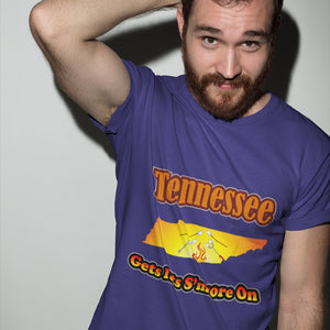 Tennessee Gets Its S'more On! Novelty Short Sleeve T-Shirt - CampWildRide.com